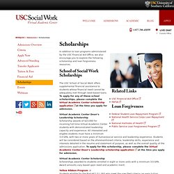 Master in Social Work Scholarships & Loan Forgiveness | MSW@USC