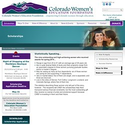 Scholarships | Colorado Women's Education Foundation