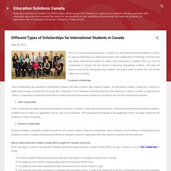 Different Types of Scholarships for International Students in Canada