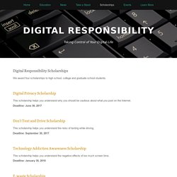 Scholarships — Digital Responsibility