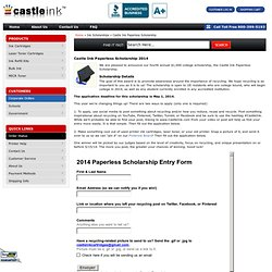 Ink Scholarship - Paperless College Scholarship from Castle Ink Cartridges