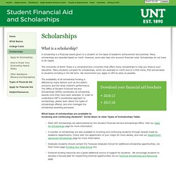 Student Financial Aid and Scholarships