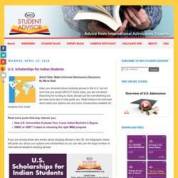 U.S. Scholarships for Indian Students - Study in the U.S. or Canada - WES Student Advisor