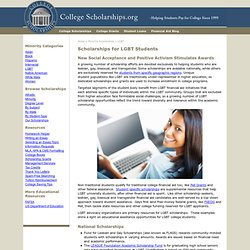 College Scholarships for Lesbian, Gay, Bisexual, and Transexual (LGBT) Students
