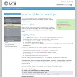 Income-related scholarships
