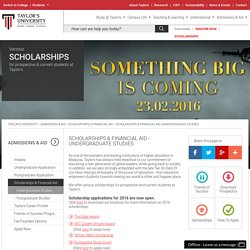 SCHOLARSHIPS & FINANCIAL AID - UNDERGRADUATE STUDIES