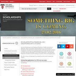 SCHOLARSHIPS & FINANCIAL AID - UNDERGRADUATE STUDIES
