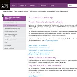 AUT doctoral scholarships - Auckland University of Technology