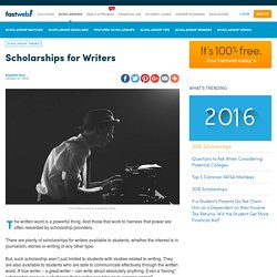 Scholarships for Writers