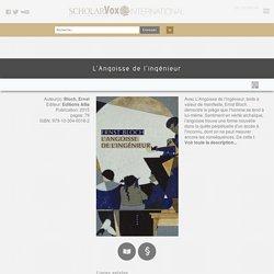 [Version électronique] L'angoisse de l'ingénieur - E. Bloch