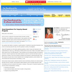 Scholastic Canada Education—Teaching Tip of the Month