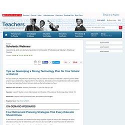 Scholastic Webinars