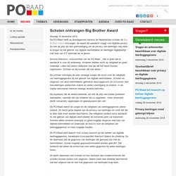 Scholen ontvangen Big Brother Award