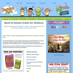 Cheap and Easy Back-to-School Crafts and Activities for Children