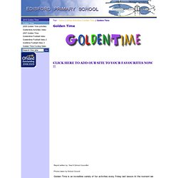 School Activities : Golden Time : Golden Time