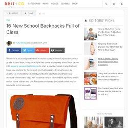 16 New School Backpacks Full of Class