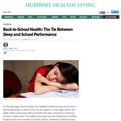 Back-to-School Health: The Tie Between Sleep and School Performance
