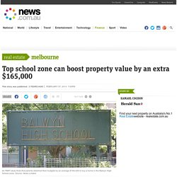 Top school zone can boost property value by an extra $165,000