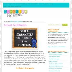 Free School Certificates & Awards