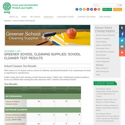 School Cleaner Test Results