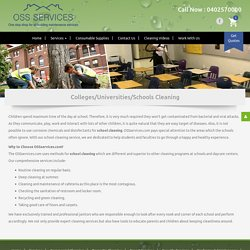 School Cleaning Services – OSS Services