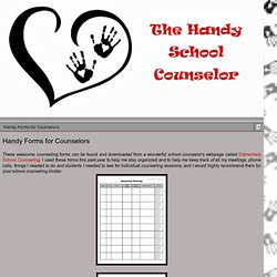 Handy Forms for Counselors