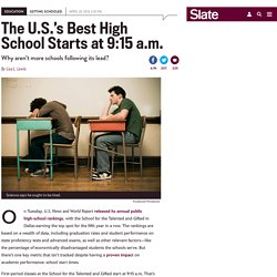 Can the best high school in the country thank its 9:15 a.m. start time for its success?