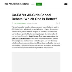 Co-Ed Vs All-Girls School Debate: Which One Is Better?