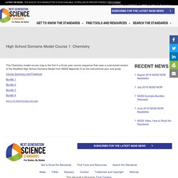 High School Domains Model Course 1: Chemistry