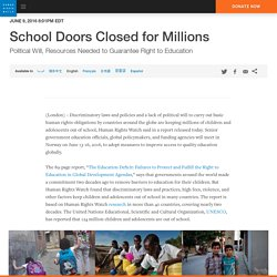 School Doors Closed for Millions