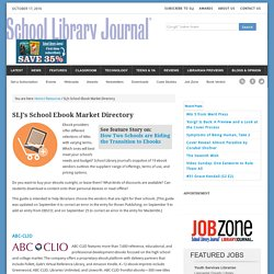 SLJ's School Ebook Market Directory