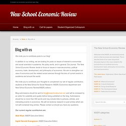 New School Economic Review » Blog with us