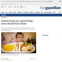 School meals are a good thing – more should have them