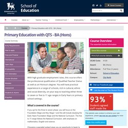 School of Education : Primary Education with QTS - BA (Hons)