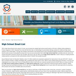 List Of 45+K verified High Schools in USA