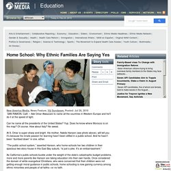 Home School: Why Ethnic Families Are Saying Yes