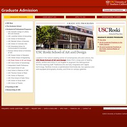 Roski School of Fine Arts - USC Graduate Admission