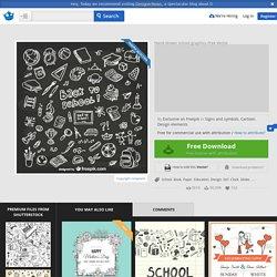 Hand-drawn school graphics Vector