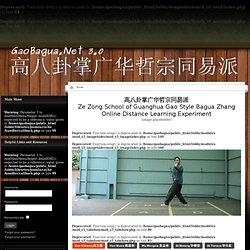 高八卦掌广华哲宗同易派 - Ze Zong School of Guanghua Gao Style Bagua Zhang