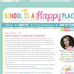 Math Daily 3, How We Started