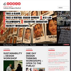 d.school: Institute of Design at Stanford