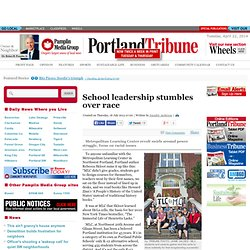 School leadership stumbles over race