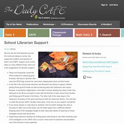 School Librarian Support - The Daily Cafe