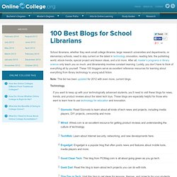 100 Best Blogs for School Librarians