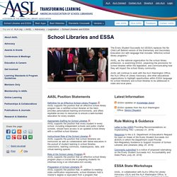 School Librarians and the Every Student Succeeds Act (ESSA)