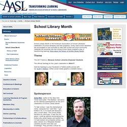 AASL's School Library Month Webpage