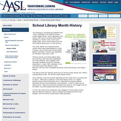 School Library Month History