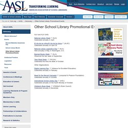 Other School Library Promotional Events