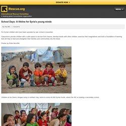 School Days: A lifeline for Syrian children