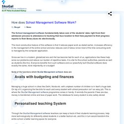How does School Management software work